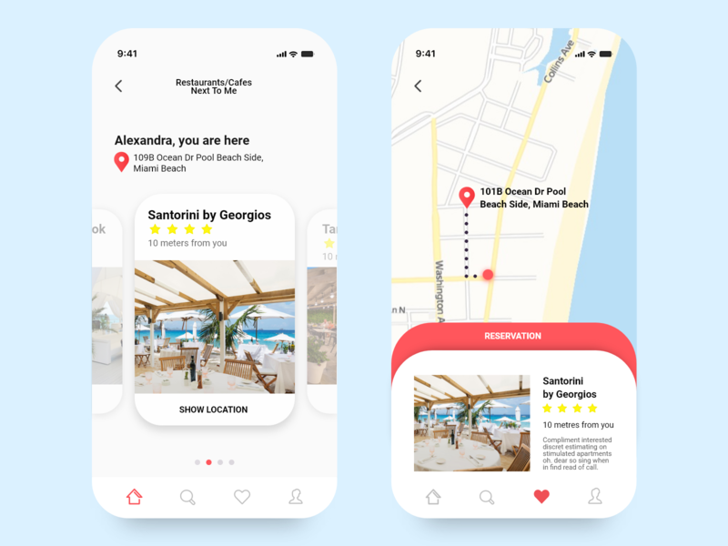 Map - Daily UI 029 daily 100 challenge daily ui 029 029 reservation app restaurant app restaurants navigation gps map