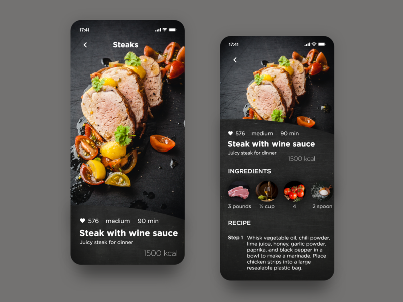 Recipe - Daily UI 040 040 daily ui 040 cooking app cooking recipe app recipe