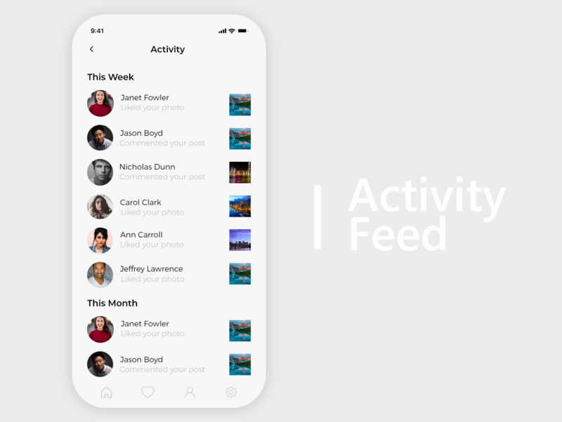 Activity Feed - Daily UI 047 47 047 daily ui 047 activity feed activity