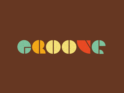 GROOVE 70s poster design typography design groove geometric lettering