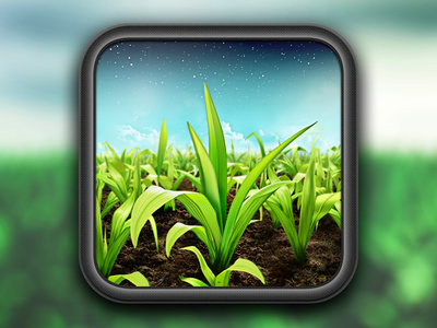FieldView App Icon agriculture field plant ipad icon app farming