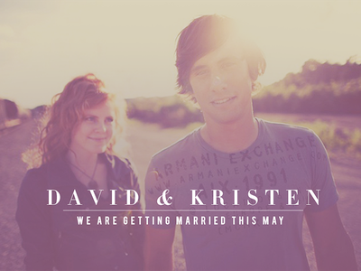 David & Kristen wedding photography couple