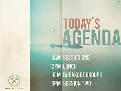 Agenda Slide presentation slide agenda barge
