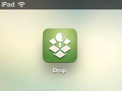 Drop App Icon app icon ios ipad