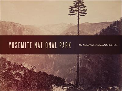 Yosemite Poster didot knockout typography poster