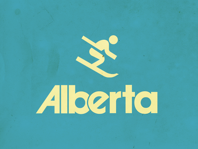 Alberta poster typography