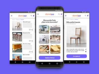Home & item screen Donnap visual design ux ui design app