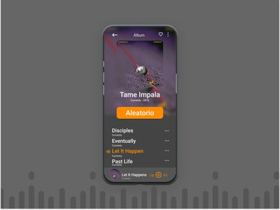 Daily UI 9 Music Player app ux ui design