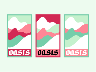 Oasis brand identity vector design oasis logo branding logo design graphic design design color