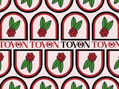 TOYON brand identity california color leaf plant logo branding vector art vector design berry plant botanical design type logo design logo graphic design design