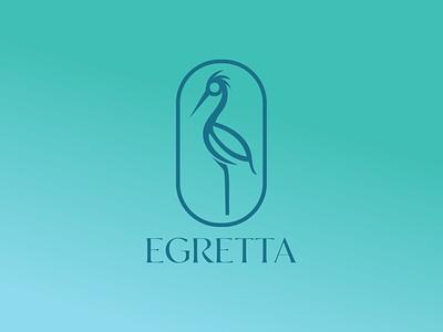 Egretta bird logo bird art heron egret bird minimalist design minimal illustrative design vector ui illustration color branding logo design logo graphic design design
