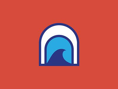Waves ocean logo ocean design ocean waves vector illustration color branding logo design logo graphic design design
