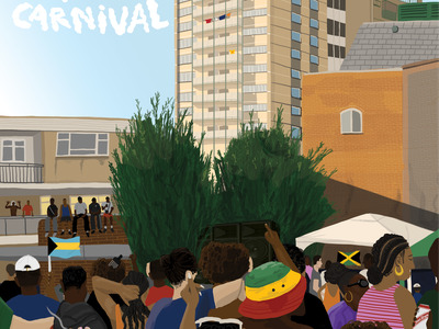 Views from Carnival 2 reportage summer londonillustration caribbean jamaican festival nottinghillcarnival carnival london music illustration digital illustration digital art