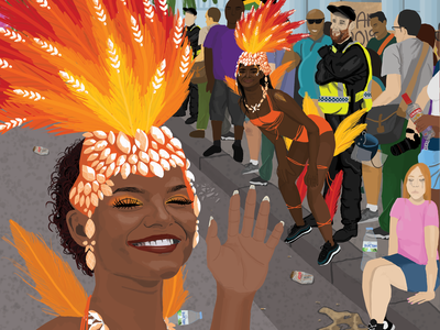 Views from Carnival 3 covid notting hill carnival carnival london illustration digital illustration digital art
