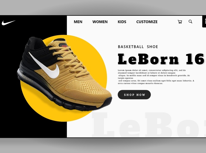 Nike Leborn 16 Web UI design 2020 web design we ui ui design nike shoes modern ui website