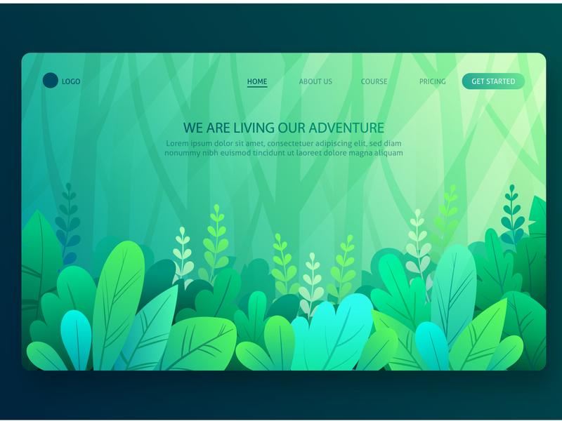 Green Web Concept website builder website design greens green website greenhouse new concept modern ui website