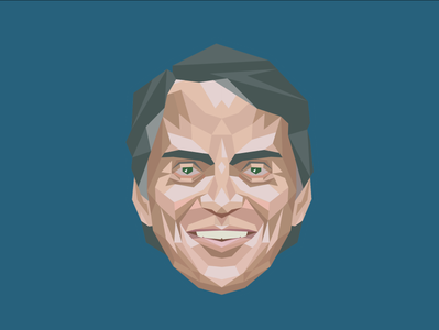 Carl Sagan polygon carl sagan science illustration