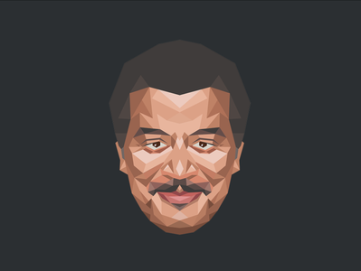 Neil deGrasse Tyson polygons neil degrasse tyson science illustration