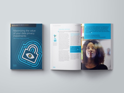 Cisco Privacy Report report branding design cisco