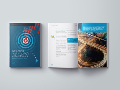 Cisco Threat Report branding cisco report design