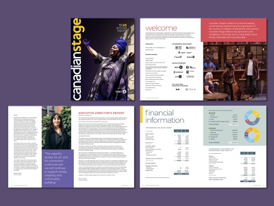 Canadian Stage 2020 Annual Report reports annual report report design