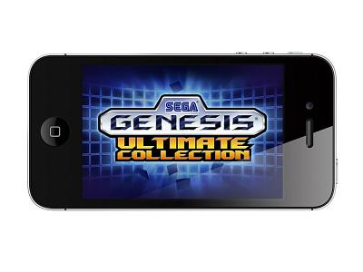 Sega Genesis Ultimate iPhone video game concept branding