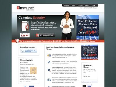 Immunet Website design webdesign web