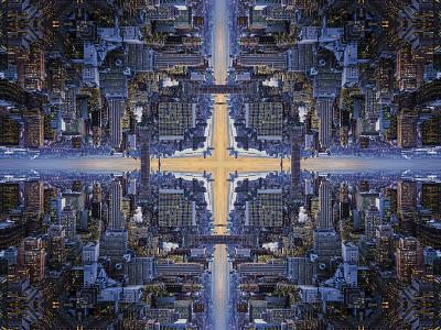 Centrify Kaleidoscope illustration design