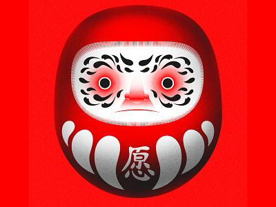 Daruma japanese craft illustration graphics digital japan art