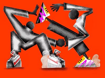 Untitled artwork nike sneaker texture orange graphics art direction art