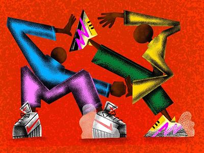 Untitled 02 fight sneakers chunky nike artwork illustration digital art