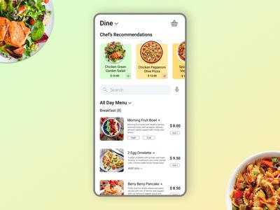 Restaurant Menu Mobile Application