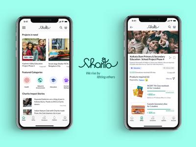 Charito : Donation App ngo service donation charity uidesign uiux product design uiuxdesign app design