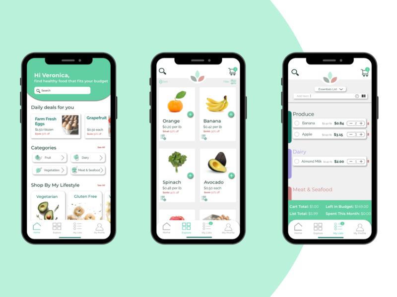 Grocery App Re-vamp budget shopping app shopping grocery list list grocery app grocery minimal ui ux logo design app