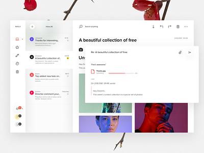 Mailx - Minimal email client concept design inbox gmail airmail ui unsplash concepting windows macapp fluent email app email figma
