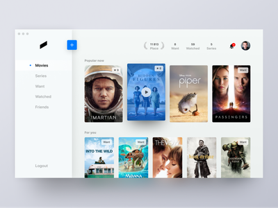 Mustapp concept for desktop ux mobile ios simple concept clean ui minimal fluent tv must netflix movie mustapp