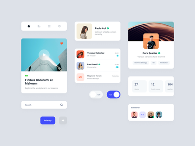 UI exploration for Workfy illustration mobile product design clean app branding simple design minimal workfy ux ui