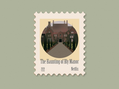 Haunting of Bly Manor netflix art icon illustrations stamp design stamp illustrator illustration art illustration design