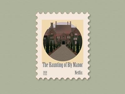 Haunting of Bly Manor netflix art icon illustrations stamp design stamp illustrator illustration art illustration design