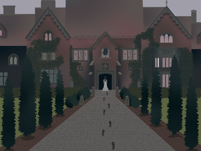 The Haunting of Bly Manor illustrations illustrator illustration art illustration design netflix ghost halloween