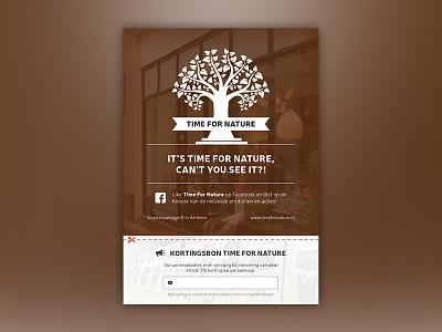 Flyer for Time For Nature tfn nature for time illustrator print design flyer