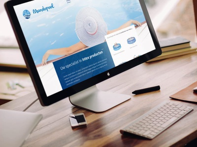 Comfortpool front-end frontend illustrator blue pools pool water site website design webdesign