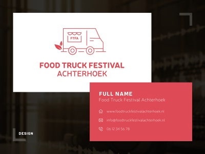 FoodtruckFestivalAchterhoek - Logo & Business Card businesscard netherlands logo festival foodtruck