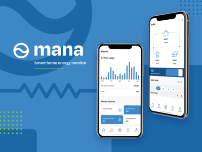 Mana - Smart Home Energy Monitor smart device power renewable energy uxui app smart home smarthome electricity energy solar energy