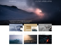 Fine Art Photography Website – Front Page teaser box cover ui website design typography photography webdesign