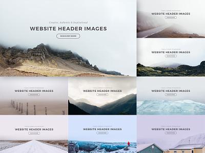 Website Header Images ui iceland slider typography ux photography photo image hero header webdesign