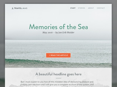 Sample Cover Page for a Travel Blog