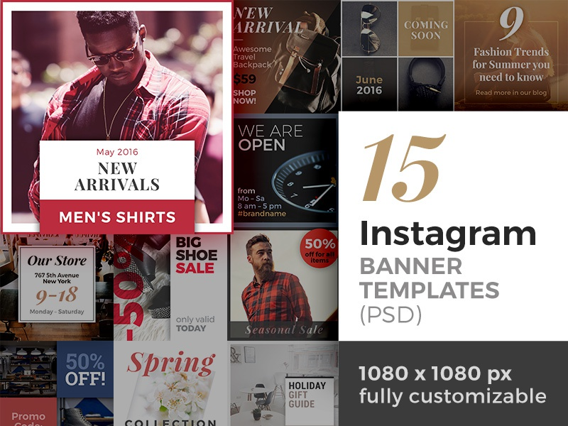 15 Instagram Banner Templates (PSD) by Jan Erik Waider ...
