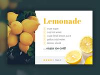 Recipe Card – Lemonade