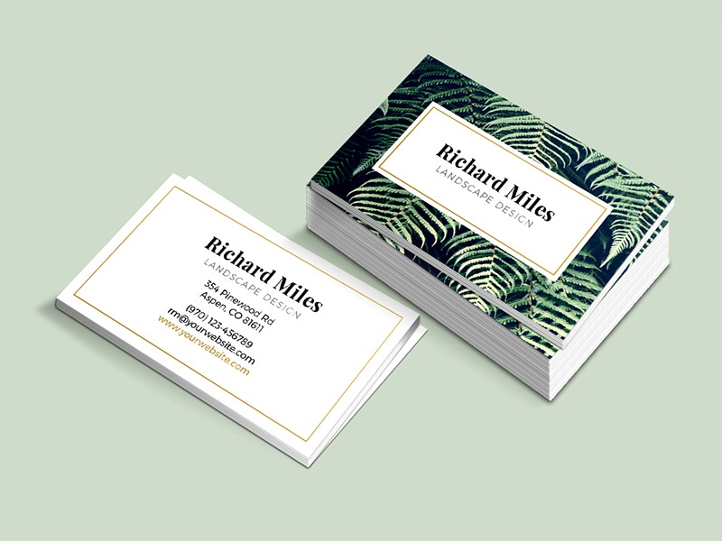 Business Card Template Flora Design Modern Elegant Photography Photo Typography Indesign